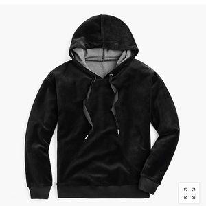 JCrew Velour Hoodie Sweatshirt